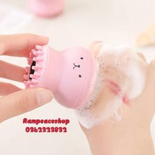 Cọ Rửa Mặt Bạch Tuộc Silicon Kèm Đầu Massage thumbnail