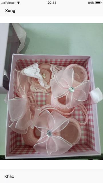 Đánh giá sản phẩm Đôi tất giả giày kèm 2 băng đô dễ thương cho bé gái của duonghue857