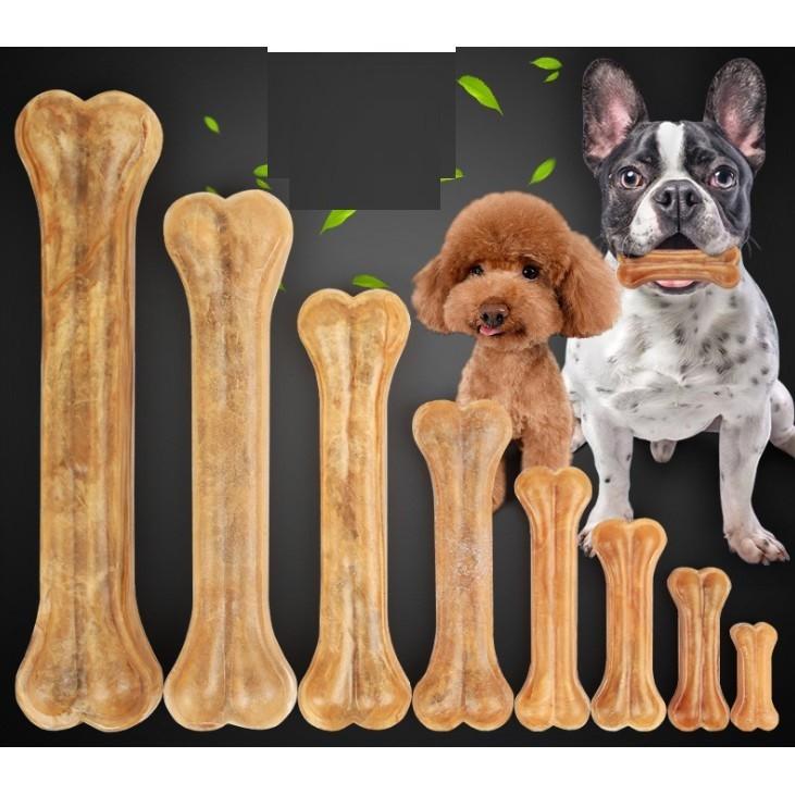 Xương ống da bò cho chó lớn trên 15kg (hanpet 371) loại dài 20cm