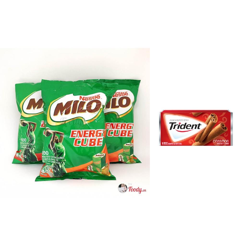 Milo viên Cube ThaiLand + Kẹo Trindent 25k
