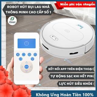 ROBOT Hút Bụi Lau Nhà Tự Động Siêu Thông Minh Bowai OB11 Premium Có App, Tự Động Sạc Pin Làm Sạch Bụi Bẩn Lông Tóc