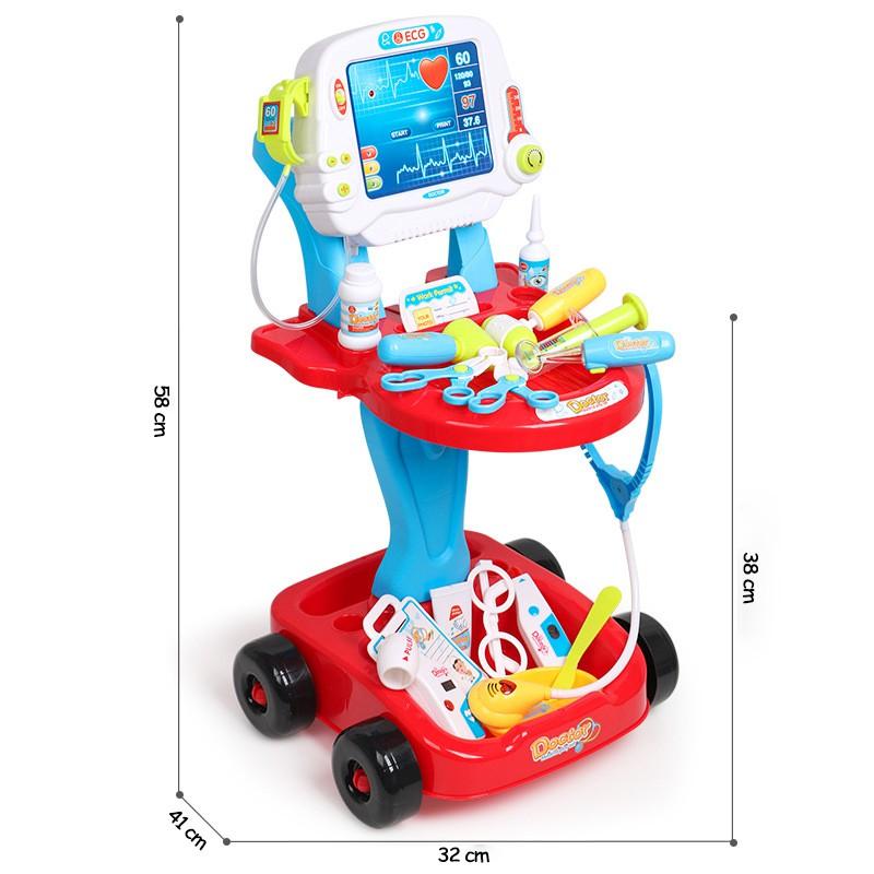 Bộ đồ chơi tập làm bác sĩ 17 chi tiết, bộ đồ chơi nhập vai bác sĩ khám bệnh dành cho trẻ từ 3 tuổi trở lên - Gutykids