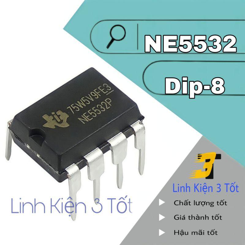 IC khuếch đại thuật toán NE5532 NE5532P 5532 8 chân cắm loại tốt