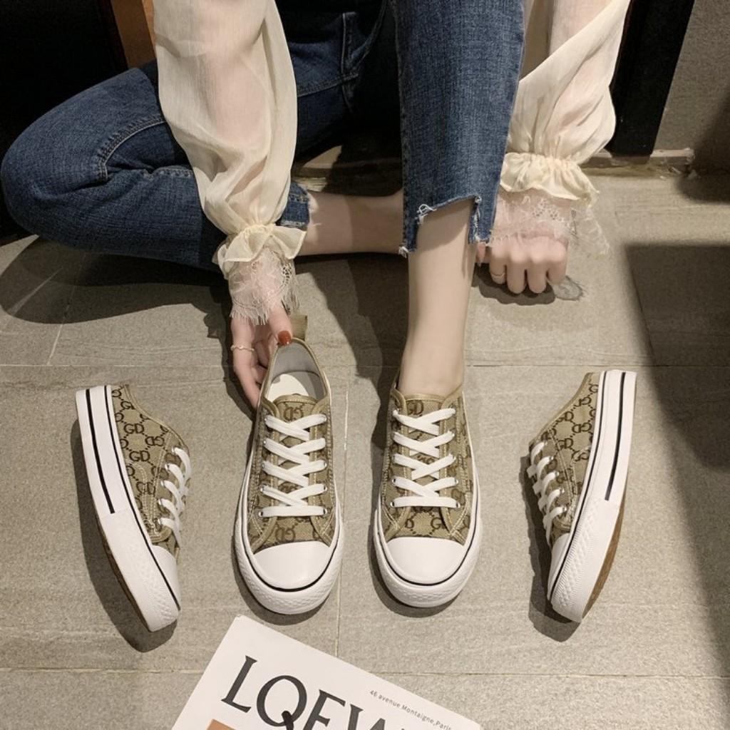 Giày Sục thể thao nữ tiện lợi, Giày CV cổ thấp GC 2021