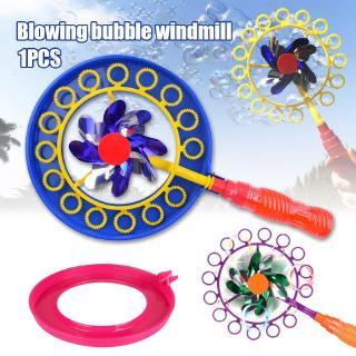 2-in-1 Bubble Stick Windmill Portable Bubble Stick Children Bubble Wand with 100ML Bubble Water @VN