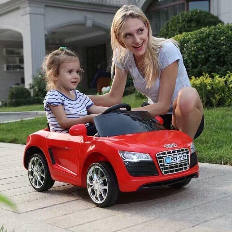 Xe Ô Tô Điện Trẻ Em MODEL FEY-5189, Có Điều Khiển, Màu Xanh, Hồng, Đỏ, Trắng bakhong