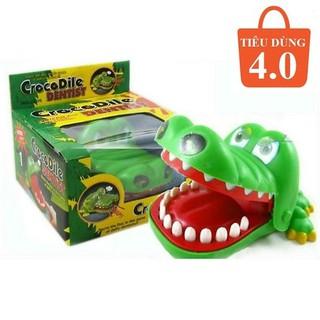 Đồ chơi cá sấu cắn tay, cá mập, chó tăng khả năng phản ứng nhanh cho trẻ