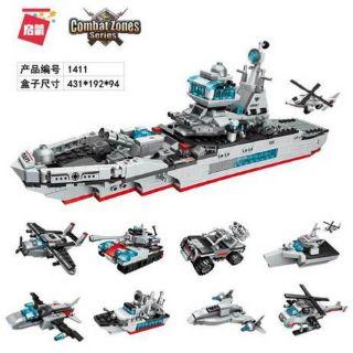 [Nhập mã TOYJUNE giảm 10K]Lego 8 trong 1 Enlighten 1411 – mô hình chiến hạm