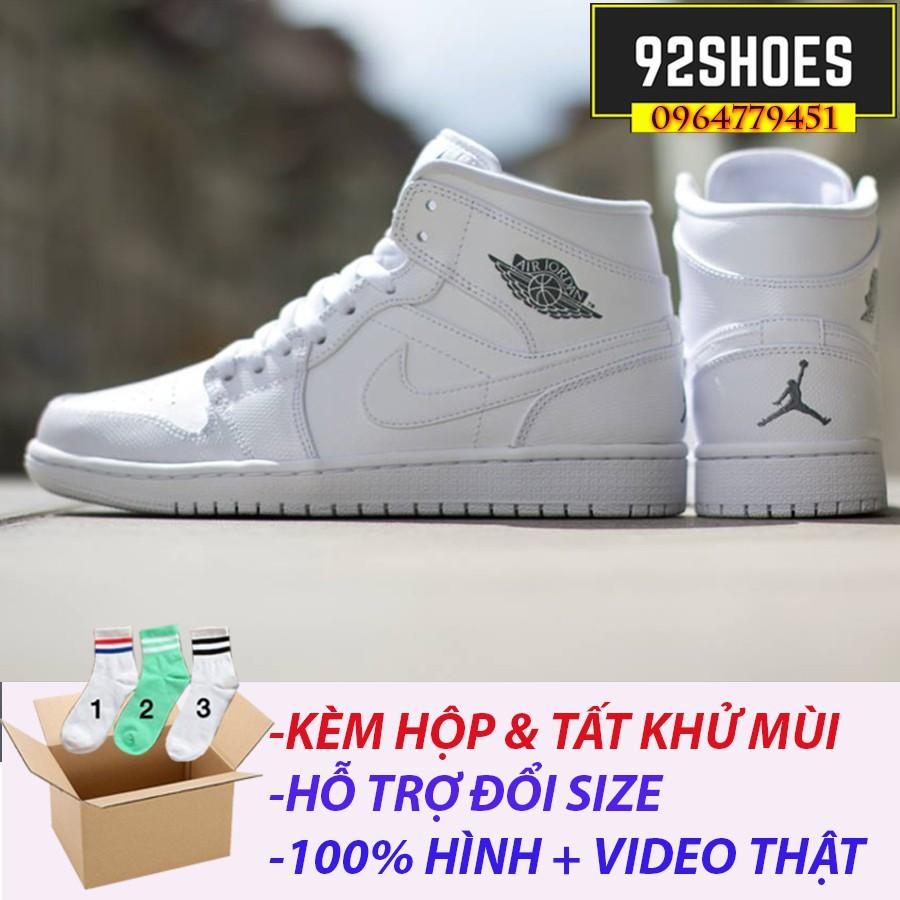 ? [FREE SHIP + BOX MỘC+TẶNG TẤT CHÂN HÀN QUỐC] Giày thể thao Jordan trắng ( hàng xuất khẩu)