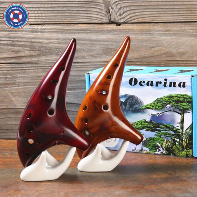 Classic 12 Hole Ceramic Ocarina Woodwind Instruments Flute