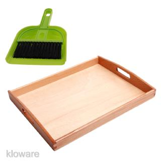 Montessori Wooden Toy Cleaning Floor Set for Kids Educational Early Learning