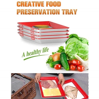 Refrigerator Boxes Durable Practical Moisture Proof PP Preservation Tray