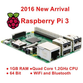 Bo Mạch Raspberry Pi 3 Model B 1Gb Ram Quad Core 1.2 G 64Bit Cpu Wifi Bluetooth
