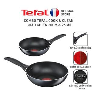 """[Mã HLSEB01 giảm 10% tối đa 100K đơn 300K] Combo Tefal Cook & Clean Chảo chiên 20cm & 26cm giá chỉ còn <strong class=""""price"""">26.900.000.000đ</strong>"""