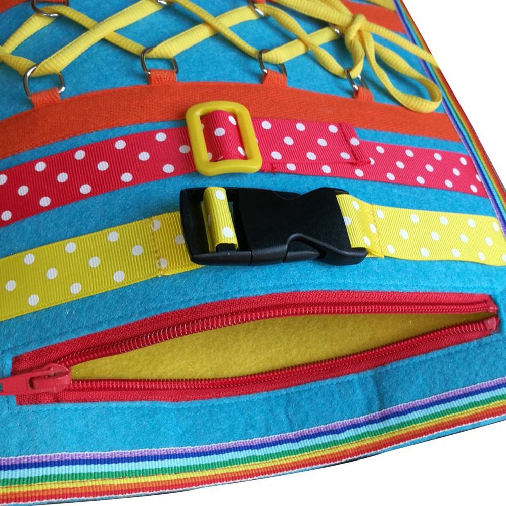Infant Children's Buckle Zipper Button Puzzle toy