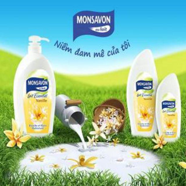 sữa tắm Monsavon hương vani 1000ml mẫu mới