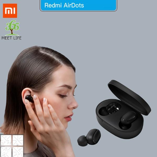 【Chính Hãng】Tai nghe Bluetooth không dây Xiaomi /Redmi Airdots Đen/Bluetooth 5.0 /Pin 12 tiếng kèm hộp