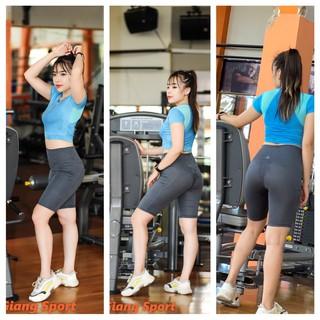 Quần lừng trên gối tập Gym, chạy bộ, thể dục nữ chất đẹp giá rẻ