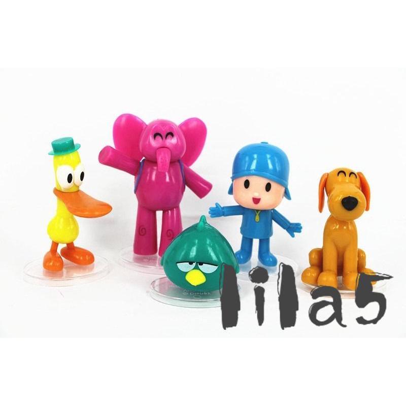 ღ☭5pcs/set Cartoon Pocoyo Zinkia Toys Action Figures Kids Unisex Xmas Gift