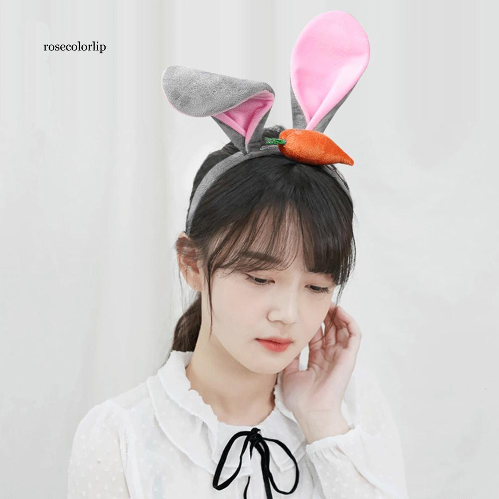 Băng đô cài tóc hình tai thỏ dễ thương dành cho các bạn gái