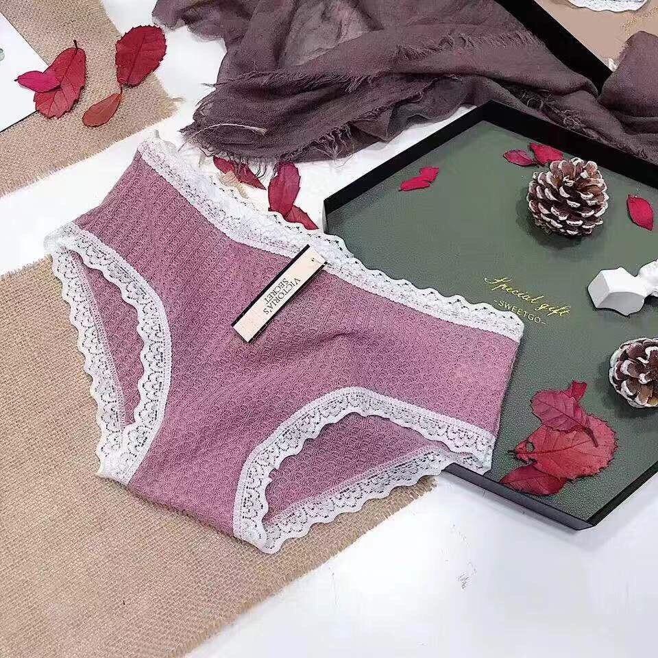 Combo 4 quần sịp nữ, quần lót cotton nữ Victoria - Hộp 4 quần vIcTorIA chất đẹp cao cấp