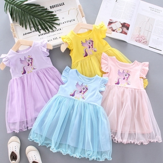 Little Pony Dress Newest Fashion 1-6Y Baby Girl Dress Princess Dresses Cute Infant Toddler Party Dress Soft Casual