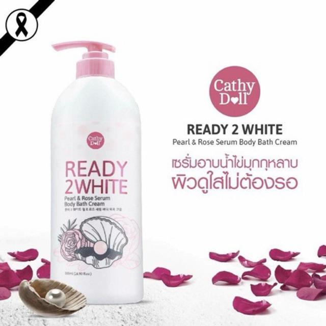 Sữa tắm trắng da Ngọc trai & Hoa hồng Cathy Doll Pearl & Rose Serum Body  Bath Cream 500ml | Shopee Việt Nam