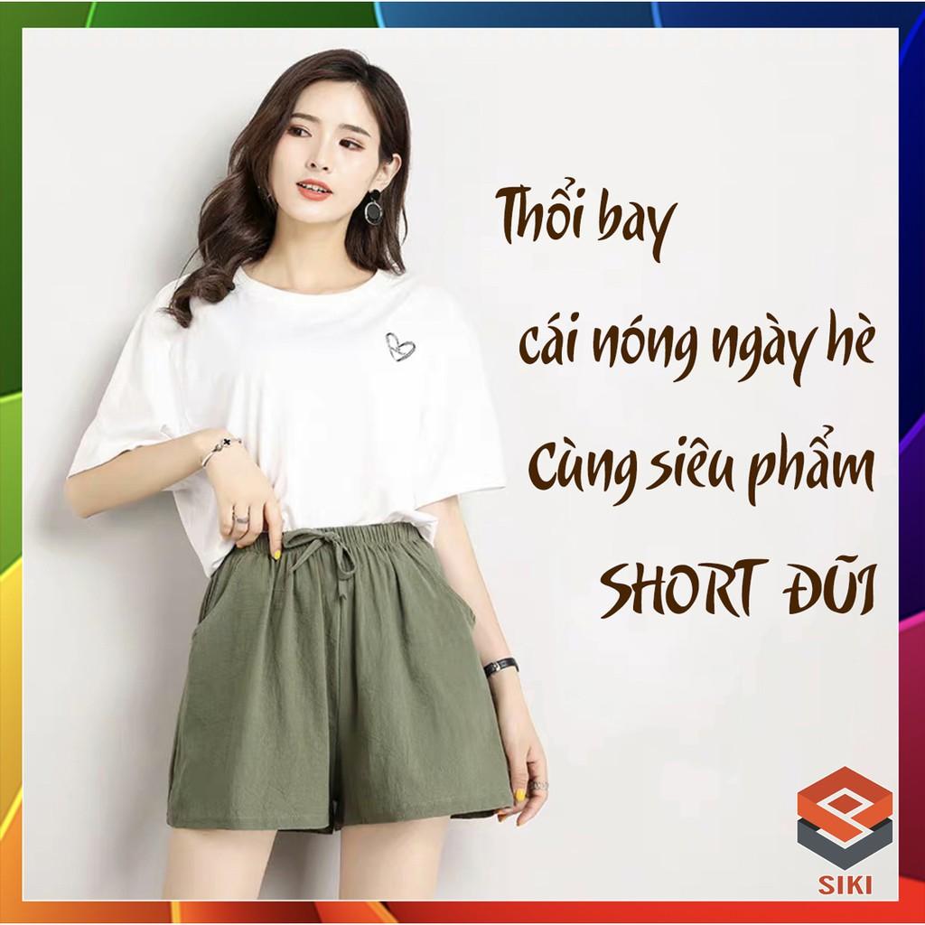 Quần short, quần đùi nữ vải đũi siêu mát