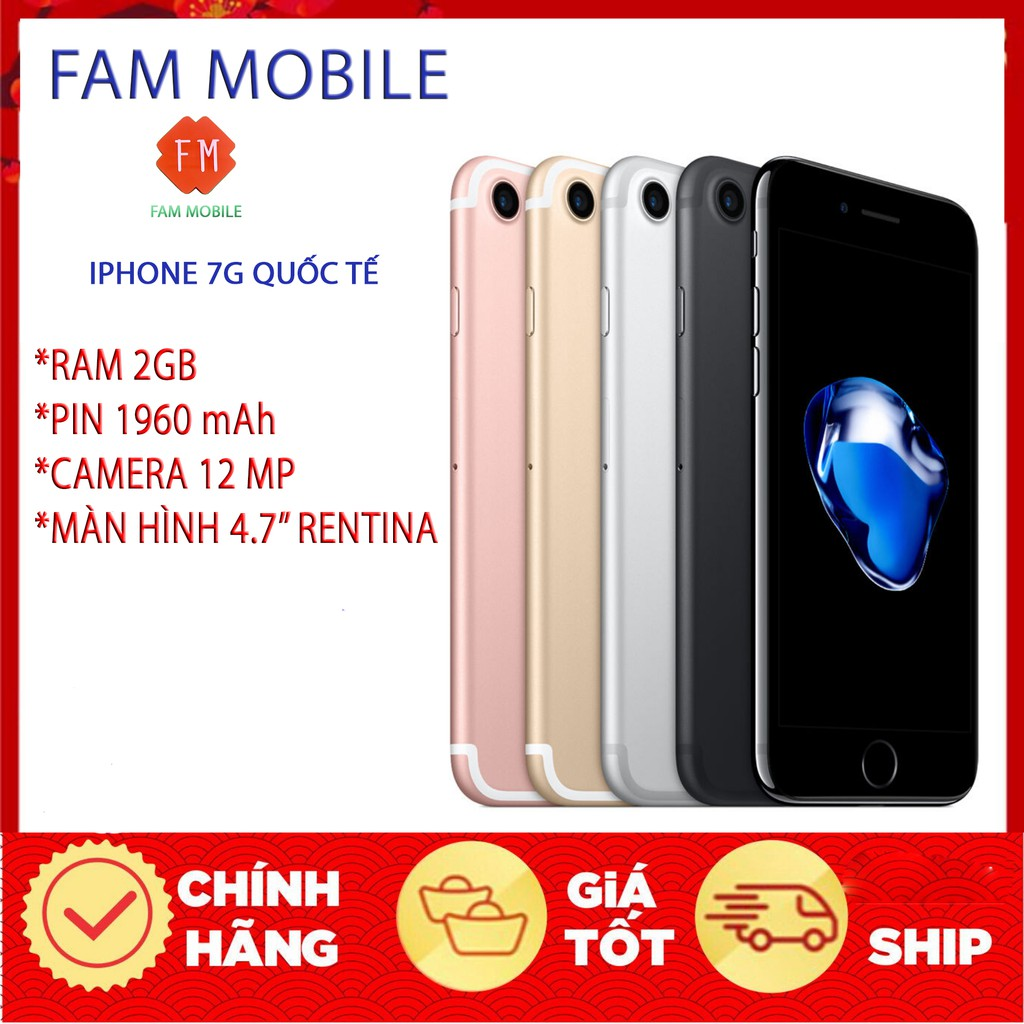 Điện thoại iphone 7G 32gb Quốc Tế fullbox