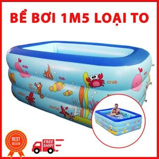 [SIÊU SALE] Bể bơi 1m5 chữ nhật cho cả nhà (bể loại 1)