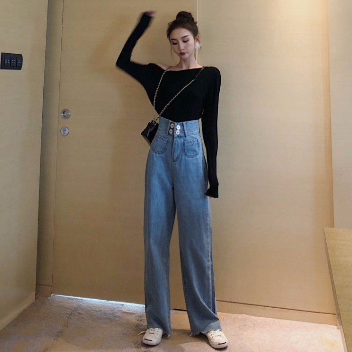 Quần short denim lưng cao ống rộng phong cách retro thời trang cho nữ - 13814242 , 2076333392 , 322_2076333392 , 367132 , Quan-short-denim-lung-cao-ong-rong-phong-cach-retro-thoi-trang-cho-nu-322_2076333392 , shopee.vn , Quần short denim lưng cao ống rộng phong cách retro thời trang cho nữ