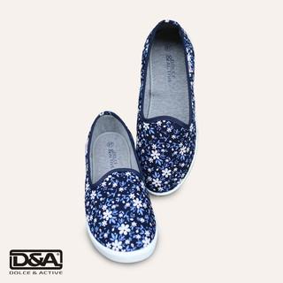 Giày slipon nữ EPL1912 hoa nhí trắng xnh