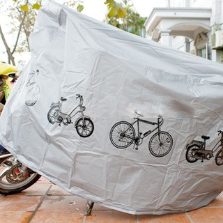 Bạt phủ xe máy ,trùm xe máy chất lượng tốt , vải dù phủ PU chống thấm tốt thumbnail