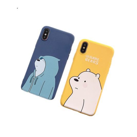 Ốp điện thoại họa tiết hoạt hình We Bare Bears dành cho iPhone 6 6S 7 8 6P 7P 8P X XR XS MAX 5 5S SE 11 11pro