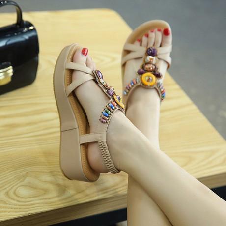 Sandal bệt nữ 5cm chất xịn, siêu êm
