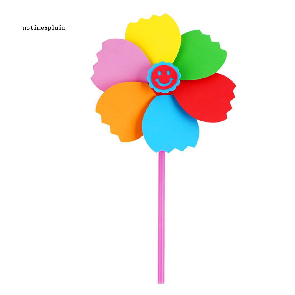 NAME DIY Multicolor Manual EVA Kids Children Windmill Pinwheel Wind Spinner Toys