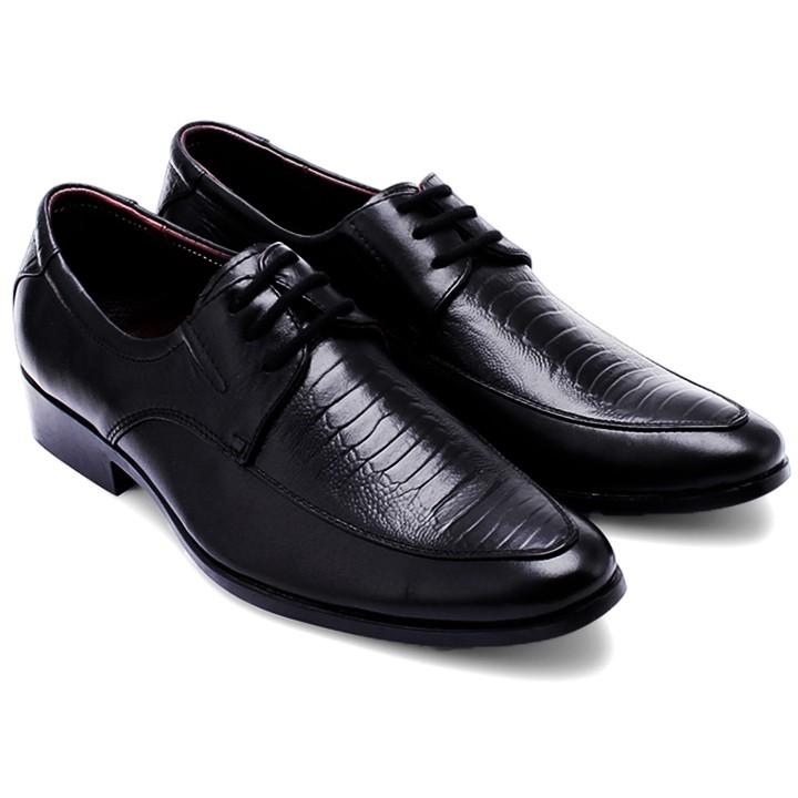 Giày tây nam vân da đà điểu Huy Hoàng HP7164