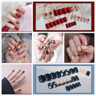 50 MẪU móng tay giả HOTTREND 2021 nail giả thiết kế bắt mắt nail box 24PCS thumbnail
