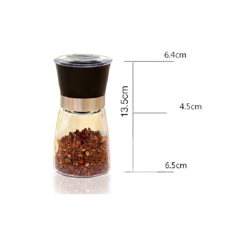 Cối xay tiêu, xay hạt khô bằng thủy tinh