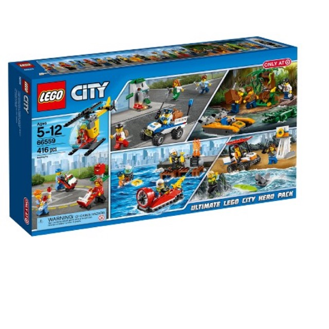 [CÓ SẴN] Lego UNIK BRICK 66559 Ultimate Lego City Hero Pack 5 IN 1 - Bộ LEGO 5 trong 1...