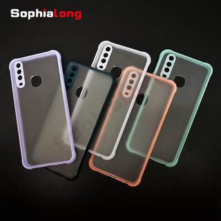 2021 Concise Colored Matte Cases VIVO Y12 Y15 Y17 Y3S U10 Cover Skin Feeling Hard Translucent PC Acrylic Cover Anti Fall