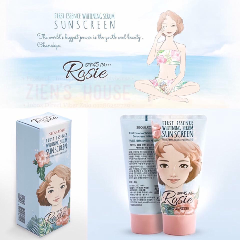 Kem chống nắng Rosie First Essence Whitening