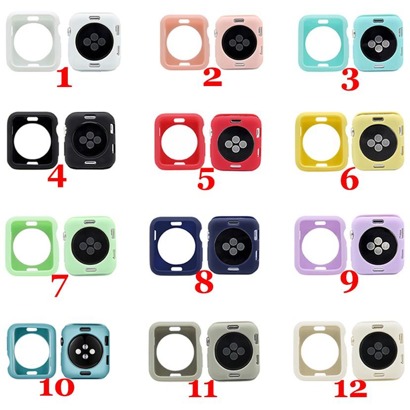 Ốp mềm màu trơn thời trang cho đồng hồ Apple 38mm/42mm/40mm/44mm Series 6/5/4/3 / 2 / 1