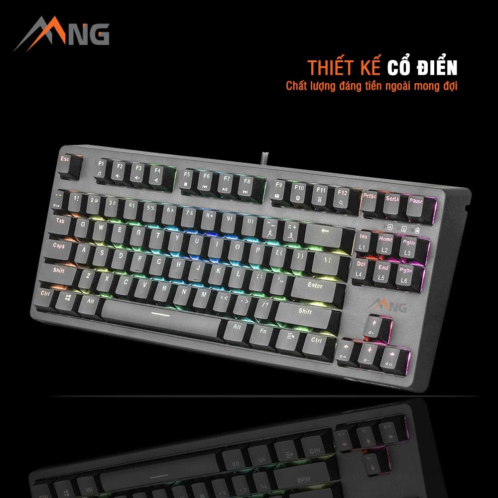 Bàn phím máy tính EDRA EK387 RGB Cơ Đèn Led Chống Nước Kèm 1 Keypuller Có Dây Chơi Game Văn Phòng 87 phím Outemu Switch