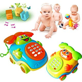 ♞Kids Child Lovely Music Cartoon Phone Car Educational Developmental Gifts Toy