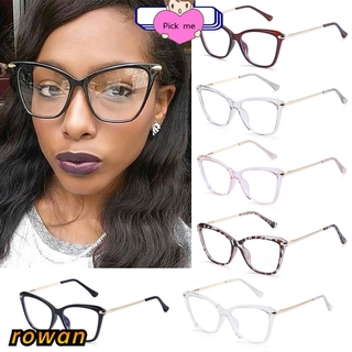 ROW Fashion Computer Glasses Reading Gaming Glasses Eyeglasses Blue Light Blocking Glasses Women & Men Square Frame Anti Eye Eyestrain Non-Prescription Blue Light Blocking
