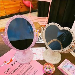 Yêu Thích(có zom 3 x)Gương để bàn hai mặt làm đẹp gương trang điểm phong cách châu Âu để bàn làm đẹp quà tặng lyanwn