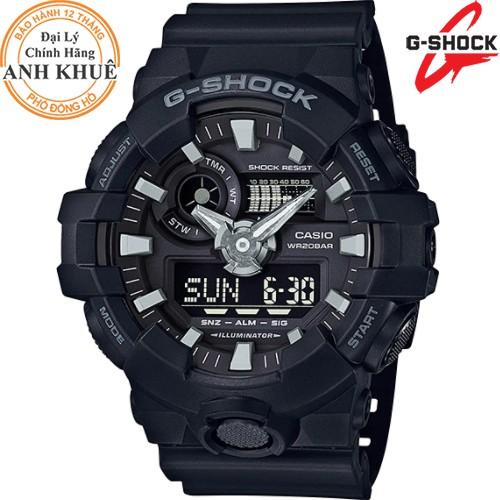 Đồng hồ nam dây nhựa G-SHOCK chính hãng Casio Anh Khuê GA-700-1BDR