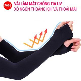Ống tay chống nắng, đeo xỏ ngón chất liệu làm mát cản tia UV vải mềm thoáng khí thumbnail