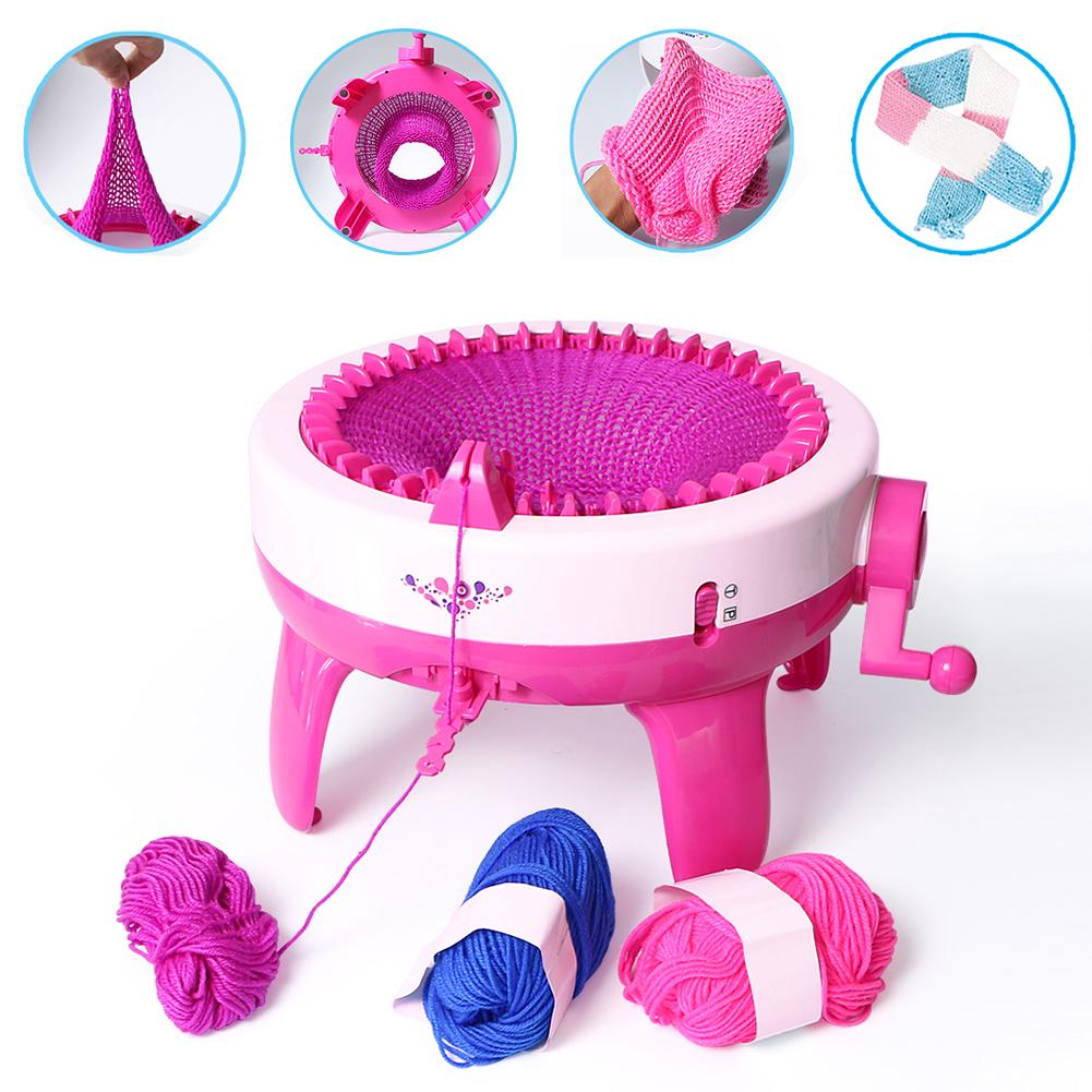 DIY Scarf Hat Sock Knitting Machine Round Loom Smart Weaver Knitter Toy
